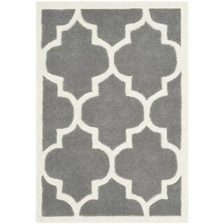 Safavieh Handmade Moroccan Chatham Dark Grey Geometric-pattern Wool Rug - 2' x 3'