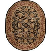Safavieh Hand-made Classic Navy/ Red Wool Rug - 7'6' x 9'6' oval