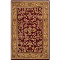 Safavieh Handmade Heritage Timeless Traditional Red/ Gold Wool Rug - 3' x 5'