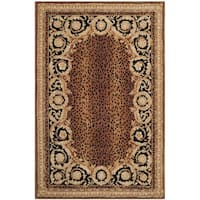 Safavieh Hand-made Naples Black/ Gold Wool Rug - 6' x 9'