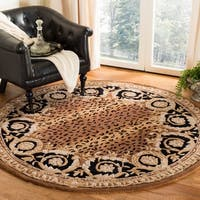 Safavieh Handmade Naples Black/ Gold Wool Rug - 6' Round