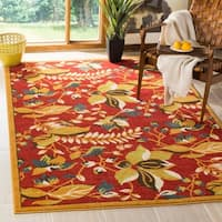 Safavieh Newbury Red/ Gold Rug (8' x 10')