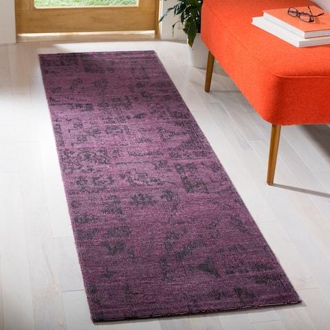 "Safavieh Palazzo Black/ Purple Overdyed Chenille Area Rug - 2' x 3'6"""