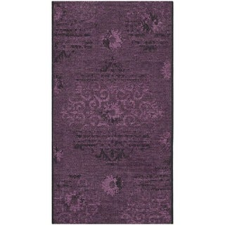 Safavieh Palazzo Black/ Purple Overdyed Chenille Area Rug (2' x 3'6)