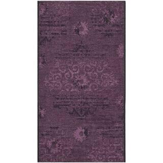 Safavieh Palazzo Black/ Purple Polypropylene/ Chen(2' 6 x 5')|https://ak1.ostkcdn.com/images/products/8165975/8165975/Safavieh-Palazzo-Black-Purple-Polypropylene-Chenille-Rug-3-x-5-P15505800.jpg?impolicy=medium
