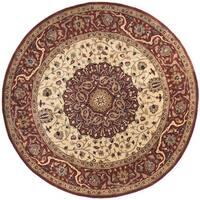 Safavieh Hand-made Persian Legend Ivory/ Rust Wool Rug - 6' x 6' Round