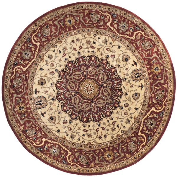 Shop Safavieh Handmade Persian Legend Ivory Rust Wool Area: Shop Safavieh Hand-made Persian Legend Ivory/ Rust Wool