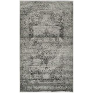 Safavieh Vintage Grey/ Multi Distressed Silky Viscose Rug (3' x 5')