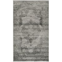 "Safavieh Vintage Grey/ Multi Distressed Silky Viscose Rug - 3'3"" x 5'7"""
