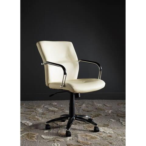 "Silver Orchid Kelly Cream Desk Chair - 24"" x 28"" x 36.4"""