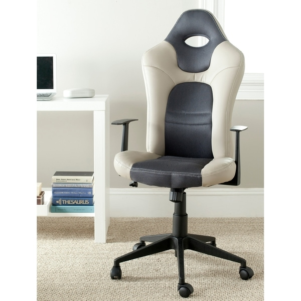 "Porch & Den Riverwood Drive Grey Desk Chair - 23"" x 26"" x 46.5"""