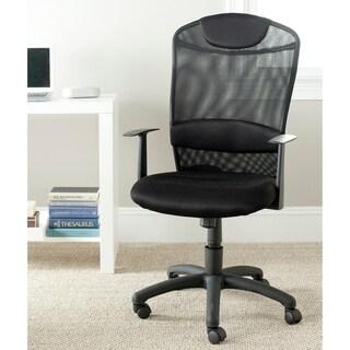 """Safavieh Shane Black Desk Chair - 24.4"""" x 21.9"""" x 42.1"""""""