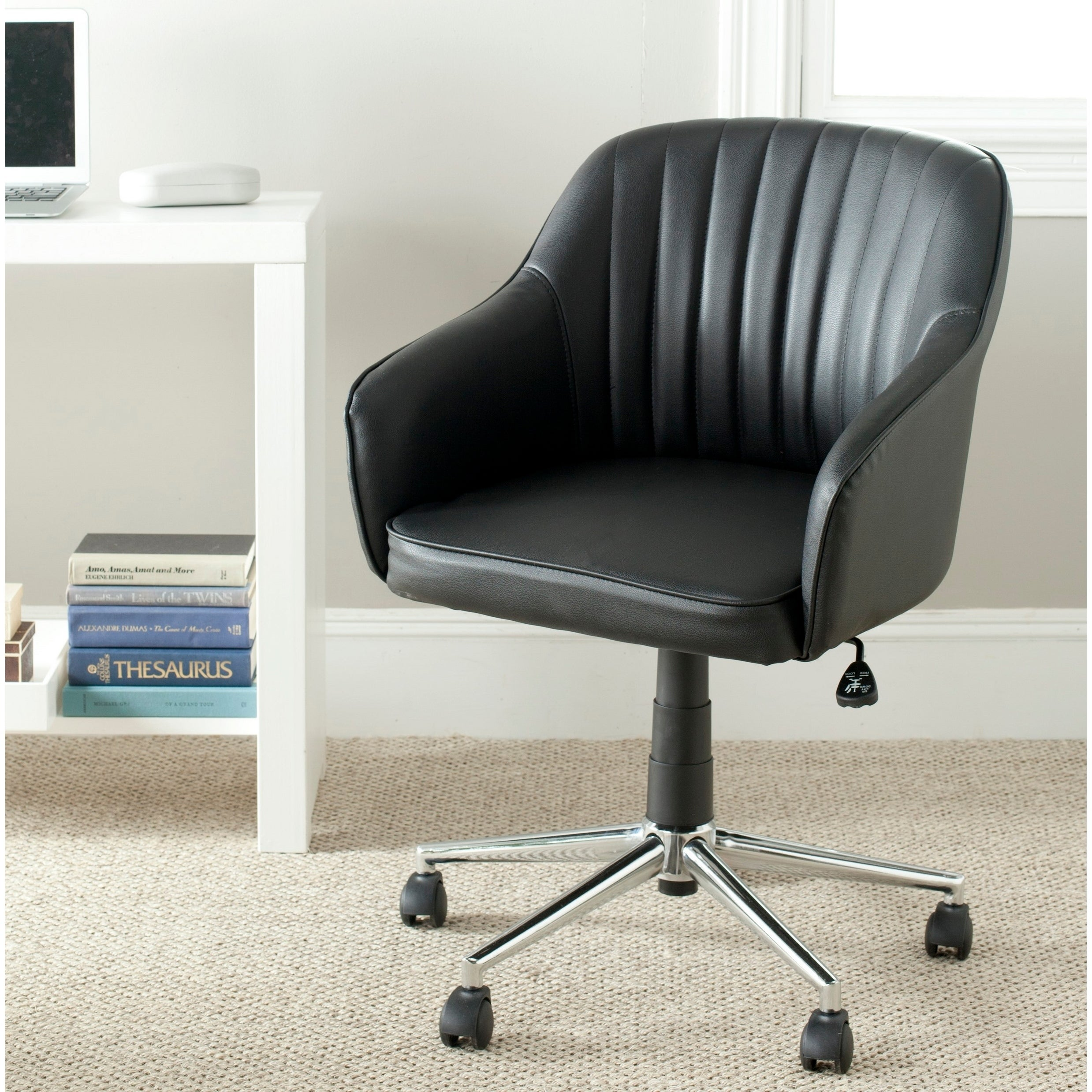 Safavieh Hilda Black Desk Chair (FOX8509A)