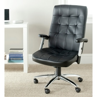 "Safavieh Olga Black Desk Chair - 24.4"" x 27.8"" x 43.3"""
