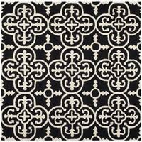 Safavieh Handmade Moroccan Cambridge Black Wool Rug - 6' x 6' Square