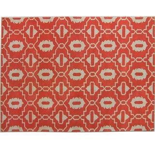Safavieh Handmade Moroccan Chatham Orange Wool Rug (2' x 3')