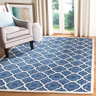 Safavieh Handmade Moroccan Chatham Geometric-pattern Blue Wool Rug (2' x 3')