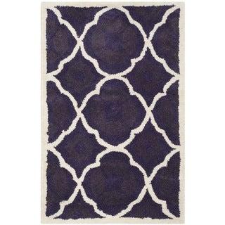Safavieh Chatham Purple Moroccan Handmade Geometric Wool Rug (2' x 3')