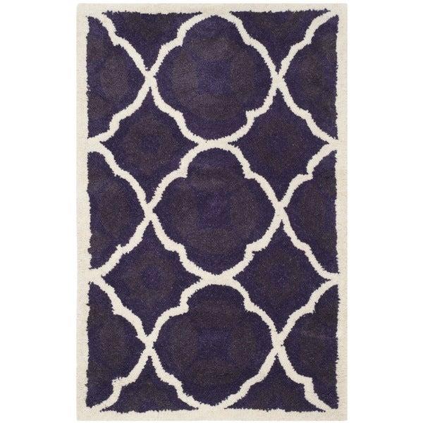 Shop Safavieh Chatham Purple Moroccan Handmade Geometric