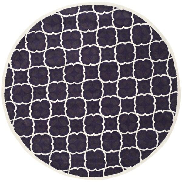 Shop Safavieh Handmade Moroccan Chatham Purple Wool Area