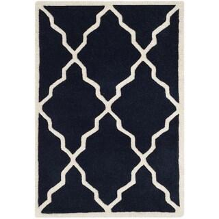 Safavieh Handmade Moroccan Chatham Dark Blue Wool Rug (2' x 3')