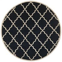 Safavieh Handmade Contemporary Moroccan Chatham Dark Blue Wool Rug - 7' Round