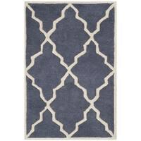 Safavieh Handmade Moroccan Chatham Grey Wool Rug - 2' X 3'