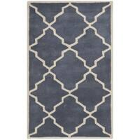 Safavieh Handmade Moroccan Chatham Grey Wool Rug - 3' x 5'