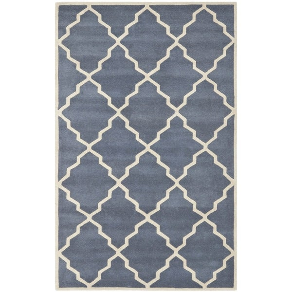 Moroccan Scroll Tile Light Blue Handmade Persian Style: Shop Safavieh Handmade Moroccan Chatham Geometric-pattern