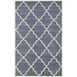 Safavieh Handmade Moroccan Chatham Geometric-pattern Grey Wool Area Rug (5' x 8')