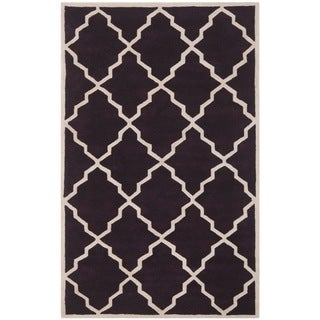 Safavieh Handmade Moroccan Chatham Dark Purple Wool Rug (6' x 9')