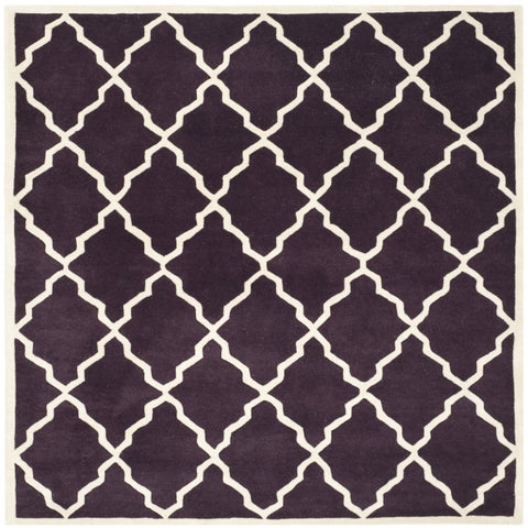 Safavieh Handmade Moroccan Chatham Dark Purple Wool Rug - 7' x 7' Square