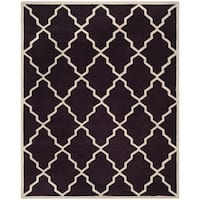 Safavieh Handmade Moroccan Chatham Dark Purple Wool Rug - 8' x 10'
