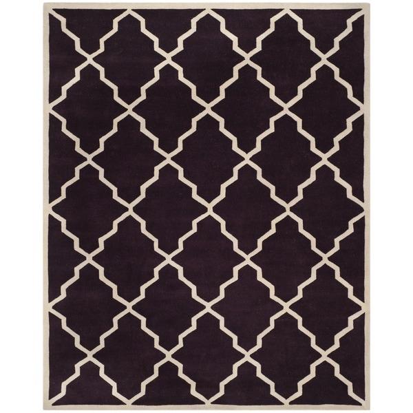 Safavieh Handmade Moroccan Chatham Dark Purple Wool Rug - 8' x 10'