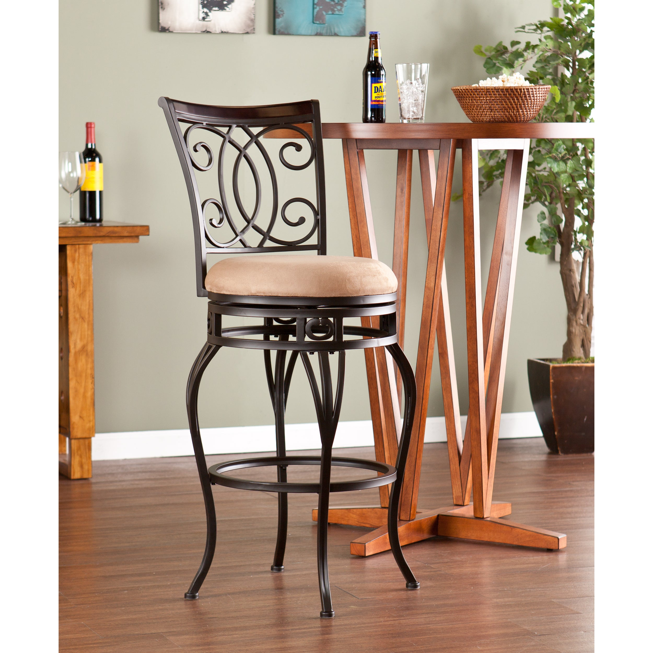Shop Harper Blvd Robleda Swivel Bar Stool Free Shipping