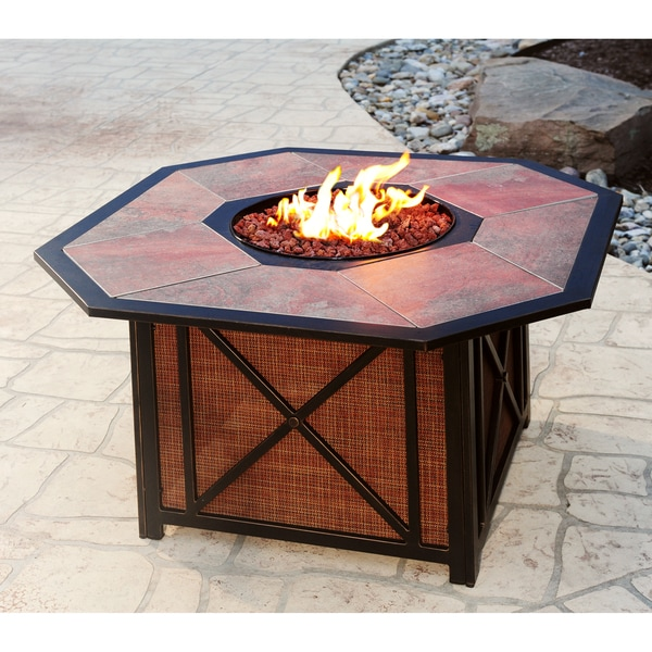 Harmon Outdoor Tile Top Gas Fire Pit