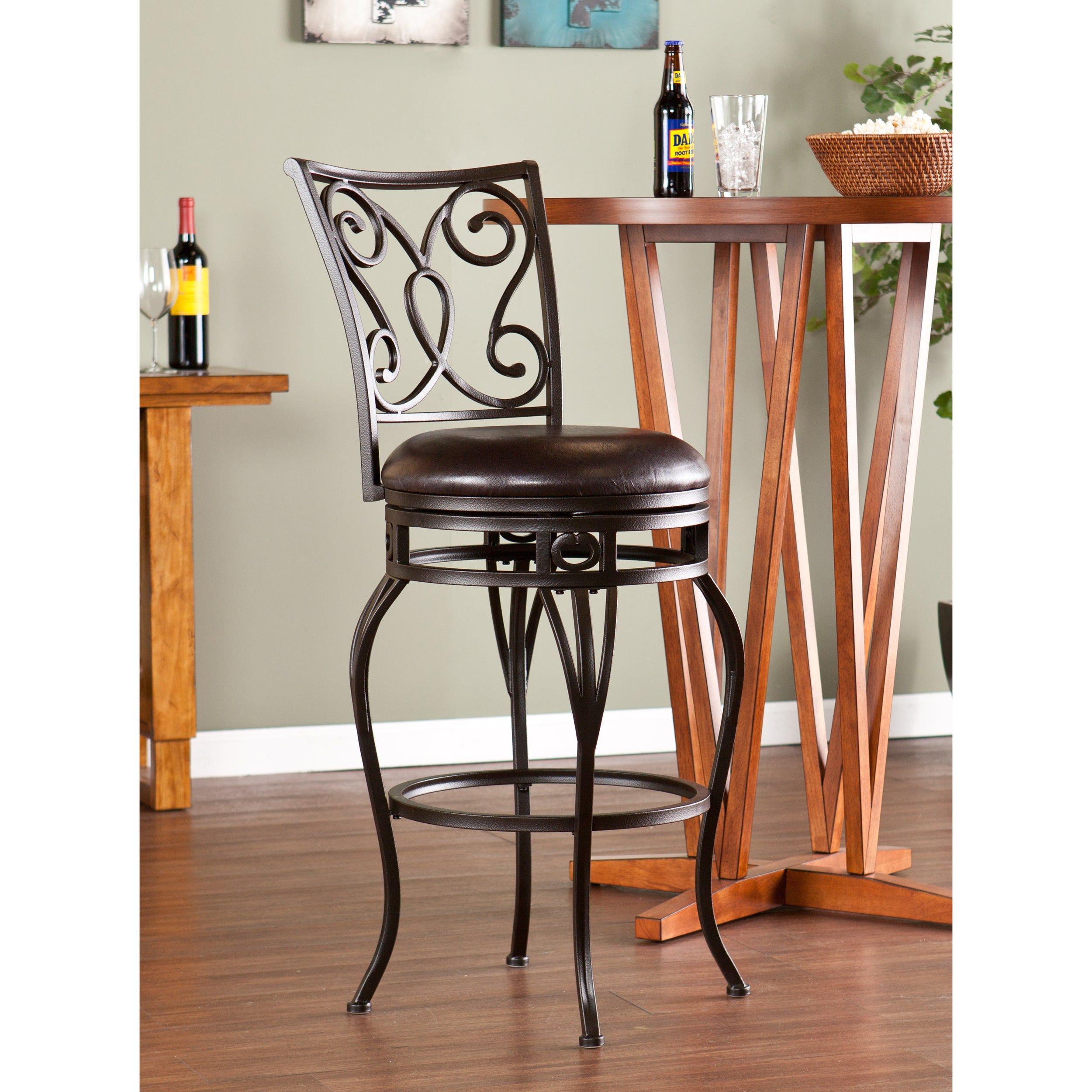 Shop Harper Blvd Cambridge Swivel Bar Stool Free