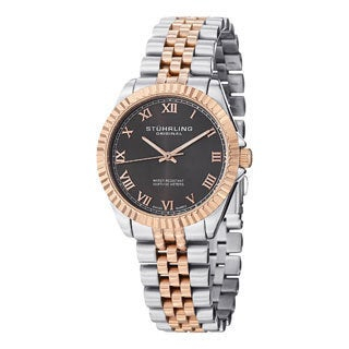 Stuhrling Original Women's Lady Coronet Two-tone Swiss Quartz Stainless Steel Bracelet Watch