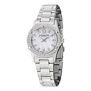 Stuhrling Original Women's Glimmer Swiss Quartz Stainless Steel Bracelet Watch