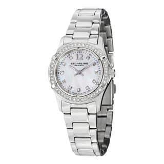 Stuhrling Original Women's Glimmer Swiss Quartz Stainless Steel Bracelet Watch|https://ak1.ostkcdn.com/images/products/8166222/Stuhrling-Original-Womens-Glimmer-Swiss-Quartz-Stainless-Steel-Bracelet-Watch-P15505973.jpg?impolicy=medium