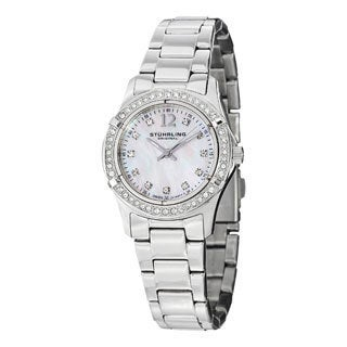 Stuhrling Original Women's Glimmer Swiss Quartz Stainless Steel Bracelet Watch
