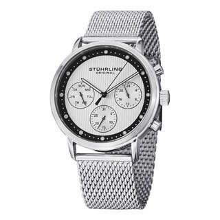 Stuhrling Original Men's Obscure Pro Stainless Steel Bracelet Watch