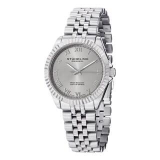 Stuhrling Original Women's Lady Coronet Swiss Quartz Stainless Steel Bracelet Watch