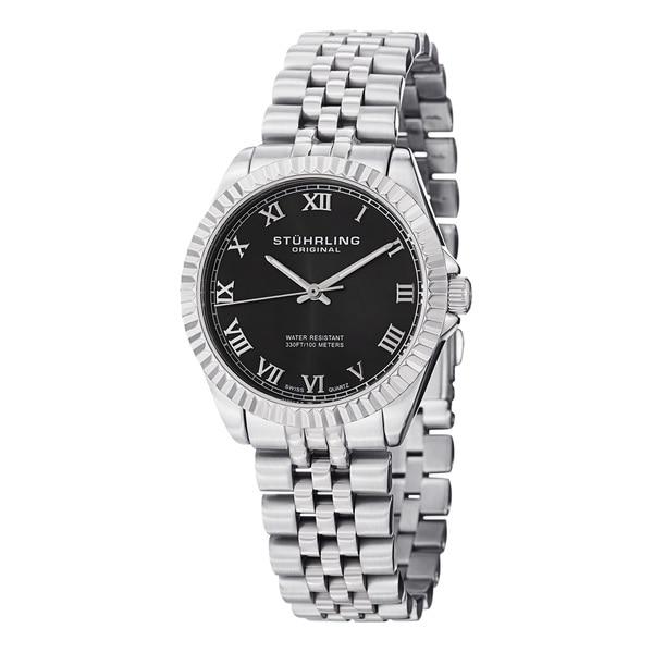 Stuhrling Original Women's Lady Coronet Water-resistant Swiss Quartz Stainless Steel Bracelet Watch