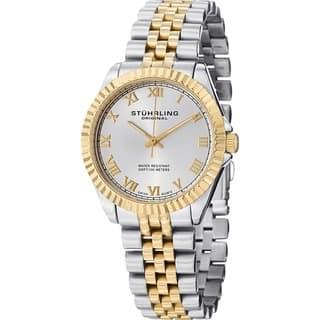 Stuhrling Original Women's Lady Coronet Swiss Quartz Stainless Steel Watch https://ak1.ostkcdn.com/images/products/8166243/P15506025.jpg?impolicy=medium