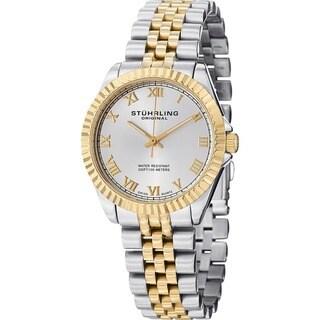 Stuhrling Original Women's Lady Coronet Swiss Quartz Stainless Steel Watch