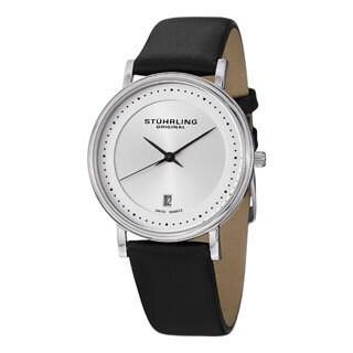 Stuhrling Original Men's Casatorra Leather Strap Swiss Quartz Watch