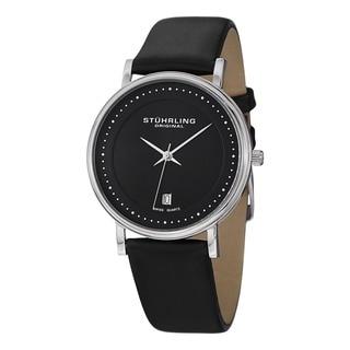 Stuhrling Original Men's Casatorra Leather Strap Watch