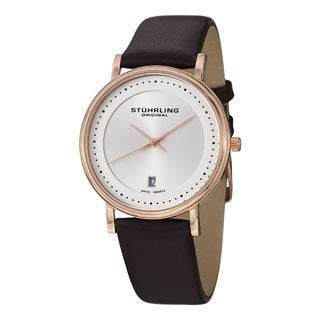Stuhrling Original Men's Casatorra Leather Strap Watch