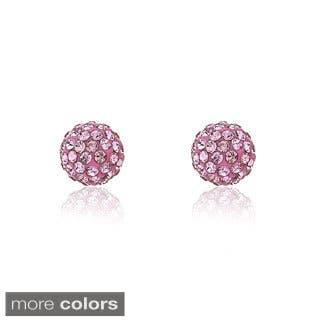 Molly Glitz 14k Goldplated Children's Crystal and Enamel Ball Earrings|https://ak1.ostkcdn.com/images/products/8166259/P15505983.jpg?impolicy=medium